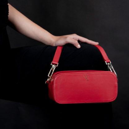 Bolso rojo de piel Brina Naiara Elgarresta