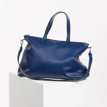 Bolso shopper de piel azul Famara Naiara Elgarresta