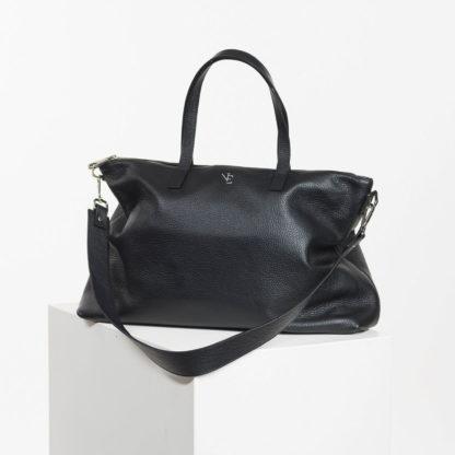 Bolso shopper negro de piel Famara Naiara Elgarresta