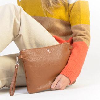 Bolso de mano cuero de piel Haria Naiara Elgarresta