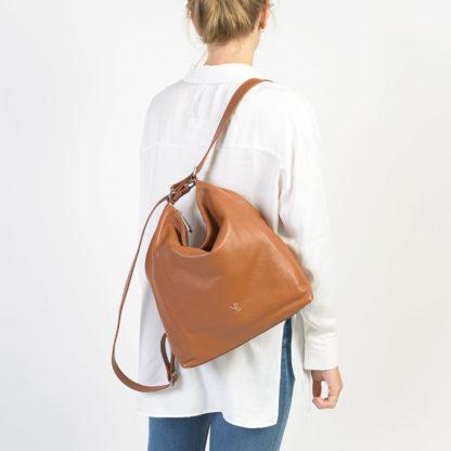 Bolso mochila cuero Teguise Naiara Elgarresta