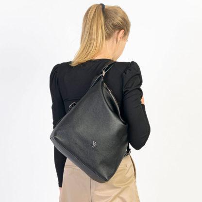 Bolso mochila negro Teguise Naiara Elgarresta